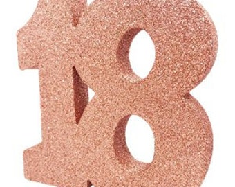 Rose Gold Glitter 18th Birthday Party Table Decoration 18 Centrepiece Decorations