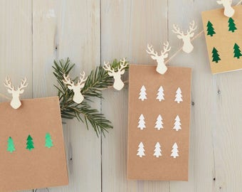 christmas card hanger stag peg and twine card holder set christmas card holder christmas decorations christmas stag decorations 16 pegs