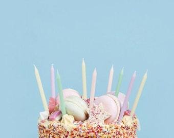 Silver Happy Birthday CandleBirthday Party Cake DecorationWritten Happy BirthdaySilver,Gold,Pink CandleFirst Birthday CakeParty Supply