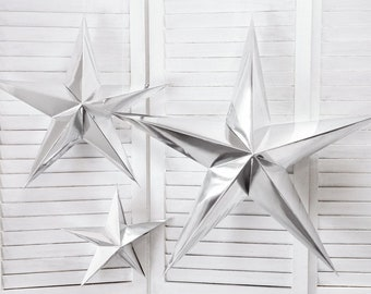silver star decorations christmas star decorations silver stars wedding decorations silver party decorations birthday party decorations
