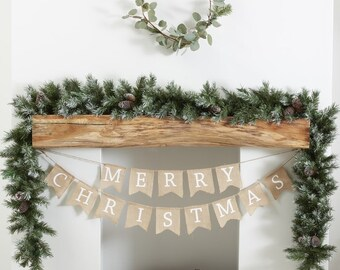 christmas foliage runner christmas garlands festive decorations christmas wreath mantelpiece and fireplace - Christmas Mantel Decorations Garland