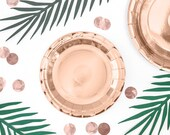 6 Rose Gold Plates, Birthday Party Plates 7 Inch, Hen Party Plates, Baby Shower Plates, Bridal Shower Plates, Engagement Party Plates