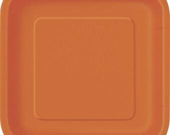 Orange plates   Etsy