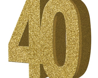 Gold Glitter 40th Birthday Party Table Decoration 40 Centrepiece Decorations