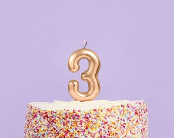 Custom 3rd Birthday Cake Topper 3rd Fille Fils nièce neveu tout âge paillettes