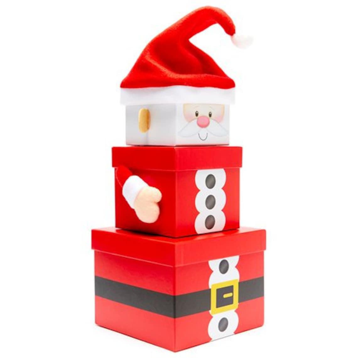 Santa Christmas Gift Box Set Christmas Gift Boxes Christmas image 0