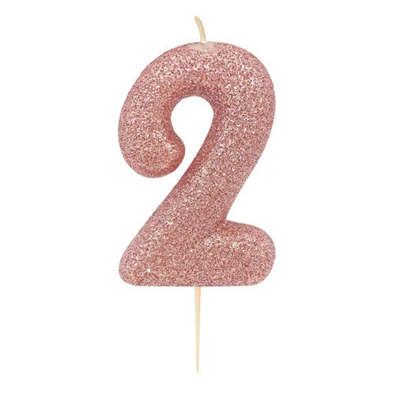 Feesten Speciale Gelegenheden Rose Gold Glitter Number 7 Age 7th Happy Birthday Cake Candle Party Anniversary Feestversieringen