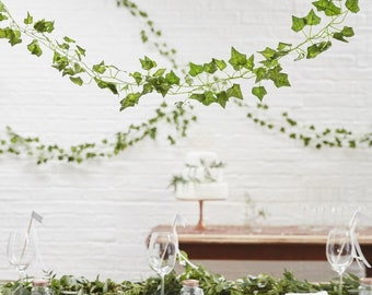 5 Artificial Vines, Decorative Vines, Wedding Decorations, Party Decorations, Vine Bunting, Rustic Wedding, Artificial Flowers, Greenery