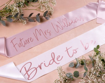 Custom Future Mrs Sash, Hen Party Sash, Bachelorette Party Sashes, Bachelorette Party, Bridal Shower, Team Bride