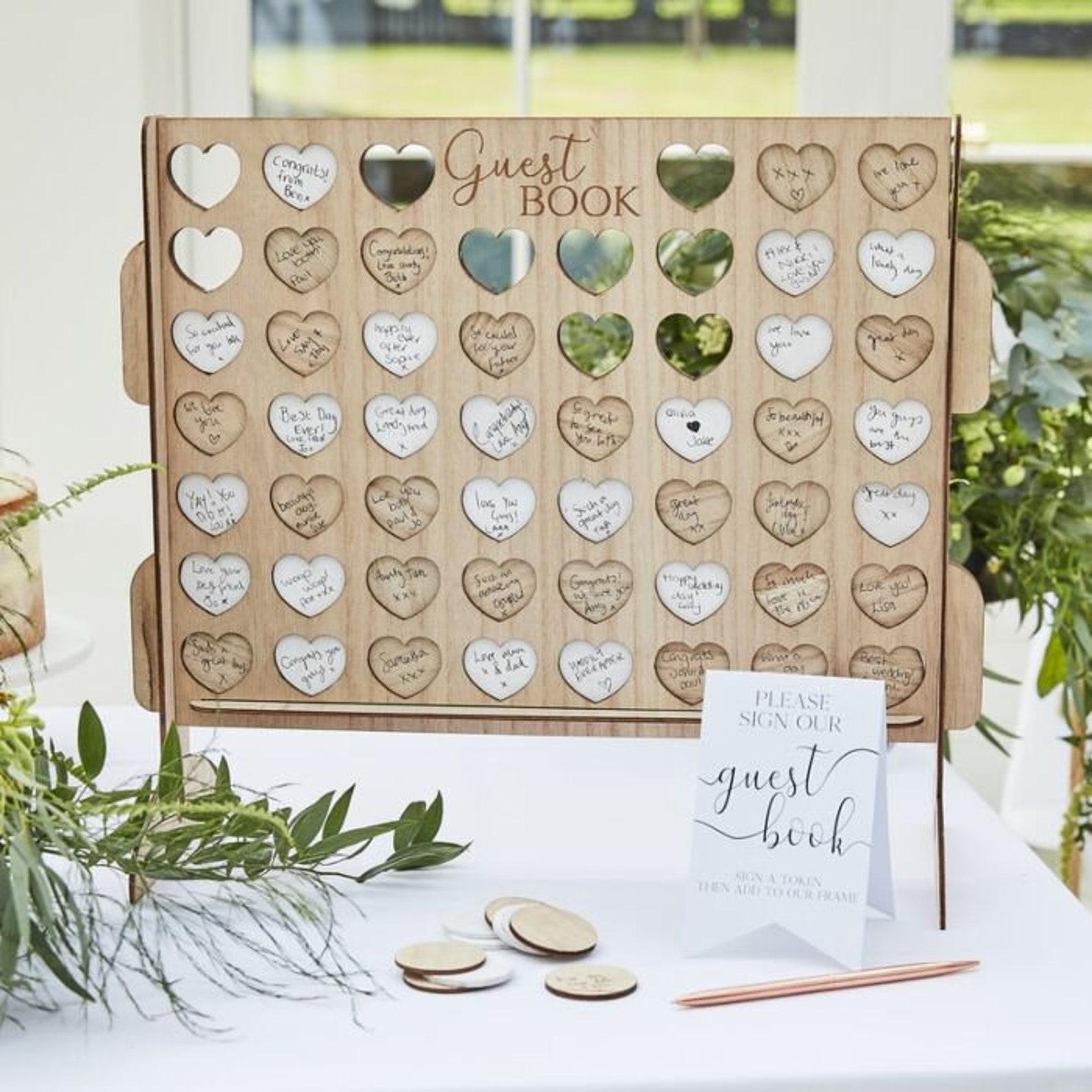 Gästebuch Hochzeit Vier gewinnt