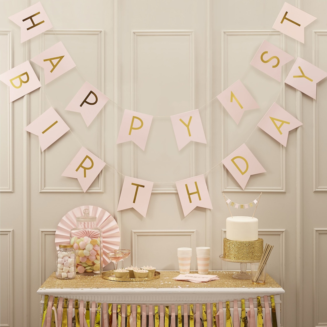 Pink & Gold Decorations