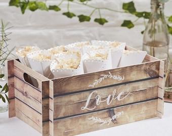 Wedding Box, Wooden Effect Card Crate, Wedding Favours, Wedding Cards Box, Wedding Flip Flops Box,  Rustic Wedding Decor, Party Box,