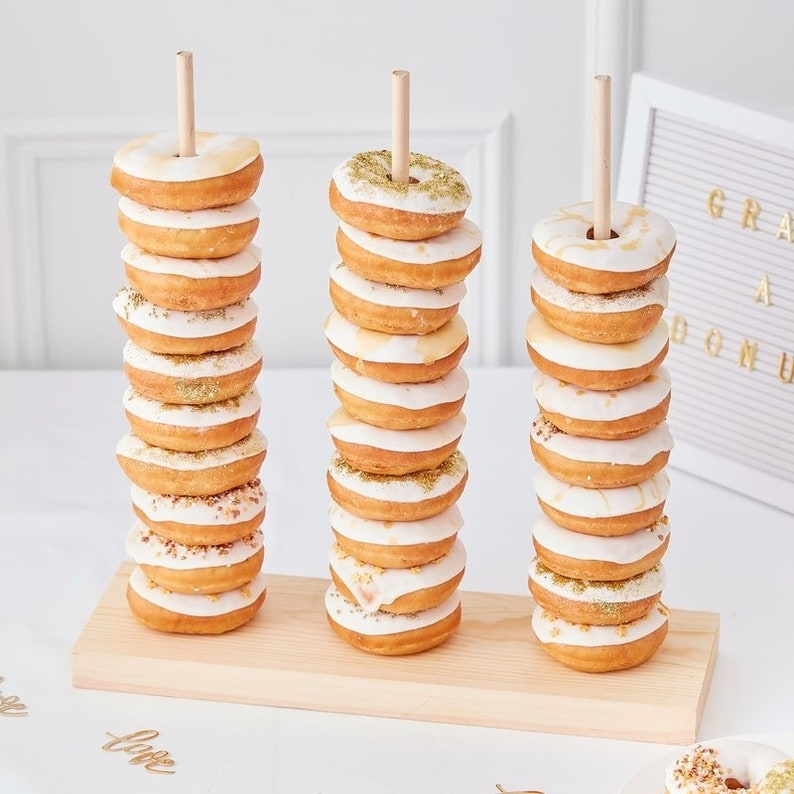 Wedding Donut Stacker  Donut Wall Doughnut Decorations Food image 0