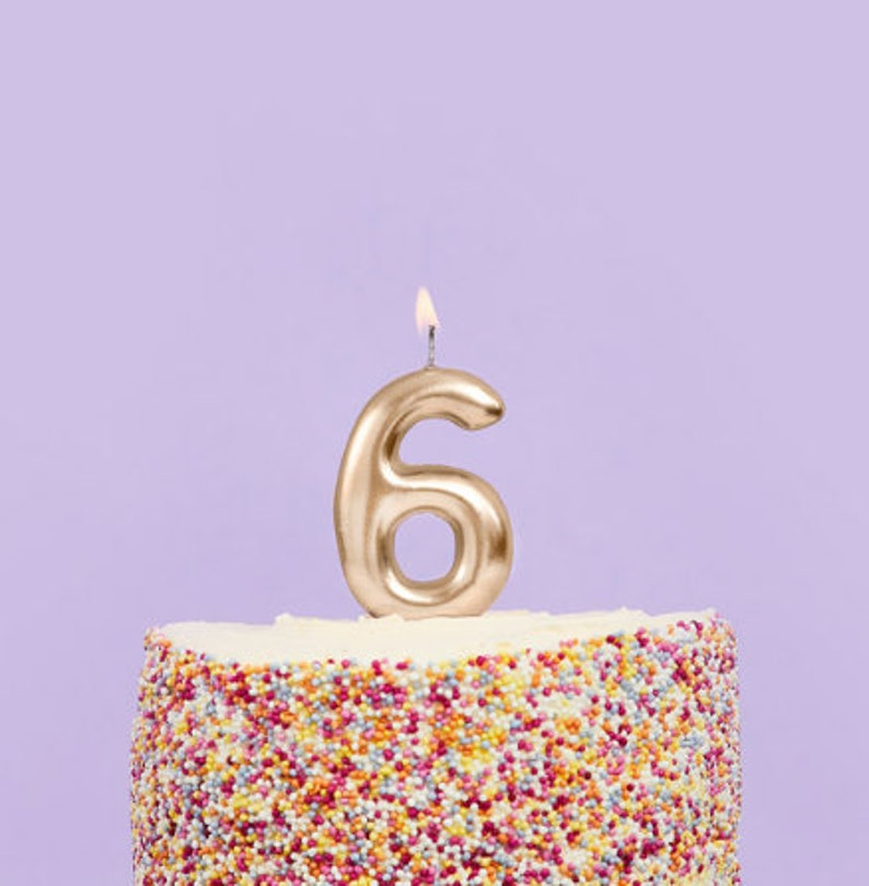 Age Candles Gold First Birthday Candles Birthday Cake Candle Number 1 Gold Candle Gold Birthday Party Decorations
