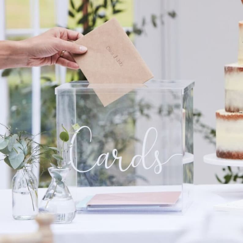 Acryl Kartenbox Hochzeit