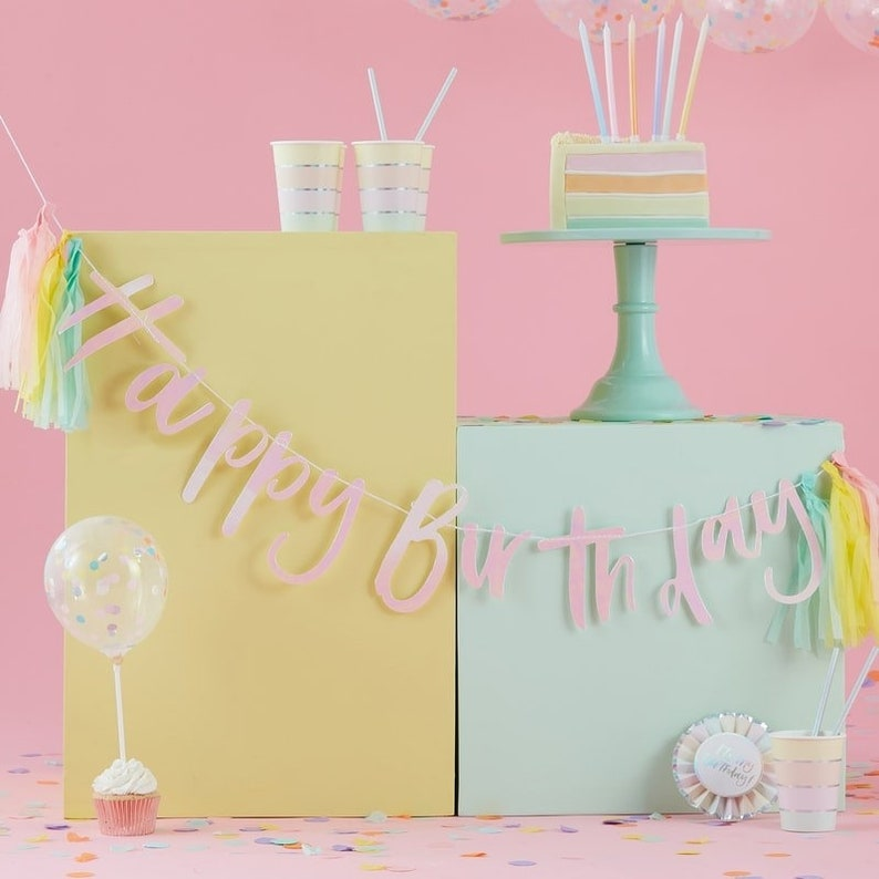 Neutral Baby Shower Birthday Party Balloons Tea Party Wedding Decor Hen Party Balloon Garlands 24 Rainbow Confetti Linking Balloons