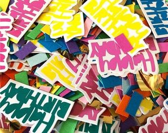 Rainbow Table Confetti, Birthday Table Decorations, Rainbow Gold Birthday Confetti, Birthday Party Confetti, Children's Party Decor