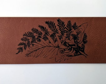 Ellie's Tattoo leatherette bookmark - laser engraved on soft, vegan leather. Handmade in Australia. Can be customised! TLOU