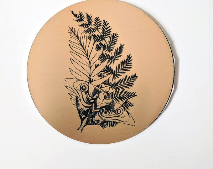 The Last of Us sticker, metallic gold. Ellie's tattoo from TLOU2, laser engraved. Great for laptops or notebooks! #TLOU inspired.
