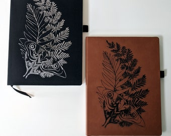TLOU Ellie's Tattoo Notebook / Journal laser engraved on leatherette. Travel journal / diary.