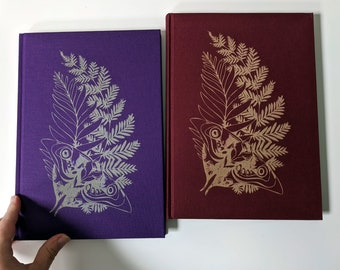TLOU Ellie's Tattoo Linen notebook, laser engraved. B5 with plain paper, 100 GSM. Bookmark, 160 pages. Travel journal, diary, art notebook.
