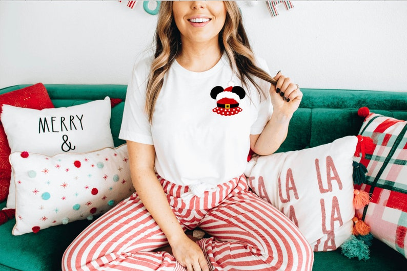 Mickey Mouse Shirt Minnie Mouse Santa Mickey Santa Minnie Christmas shirt