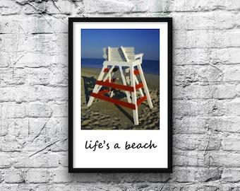 Life's a Beach 11x17 Poster