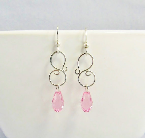 Birthstone Clip on Earrings for Girls Crystal February Teardrop Dangle Earring