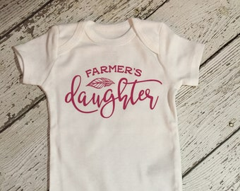Farmers Daughter Baby Outfit, Farmers Daughter Outfit, Farmers Daughter Baby Gift, Farmers Daughter Baby Shower Gift, Farmers Baby Daughter