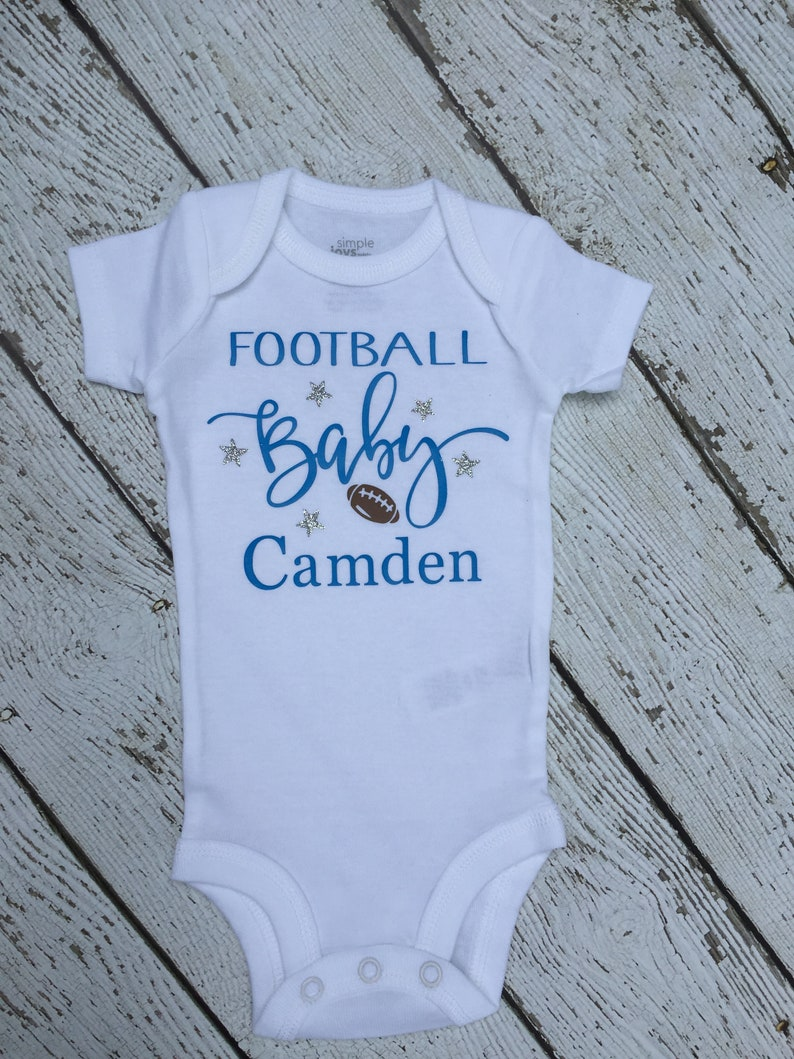 Football Personalized Baby Outfit Baby Personalized Football Outfit Personalized Baby Football Outfit Football Baby Personalized Outfit