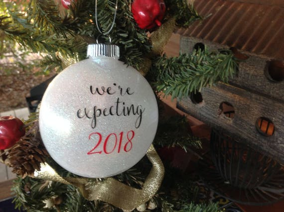 We're Expecting 2019 Christmas Ornament Expecting | Etsy