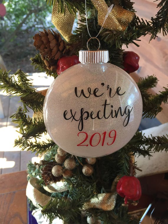 image 0 - We're Expecting 2019 Christmas Ornament Couples Baby Etsy