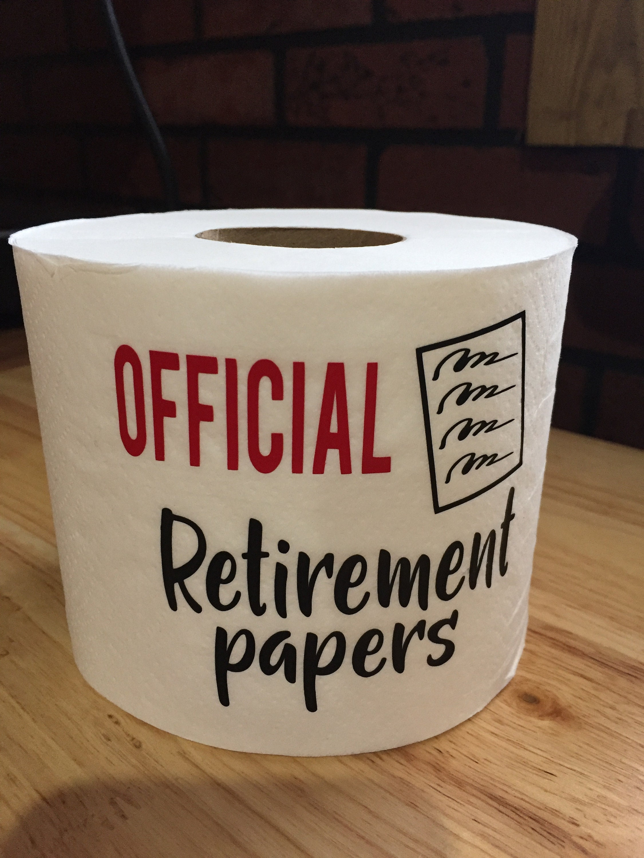 funny retirement papers gag gift retirement papers funny gag | etsy