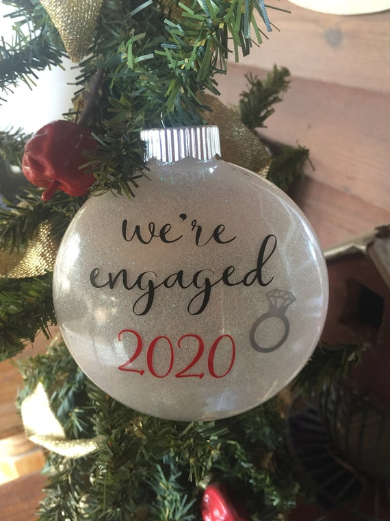 Engaged 2020 Christmas Ornament We're Engaged Christmas | Etsy