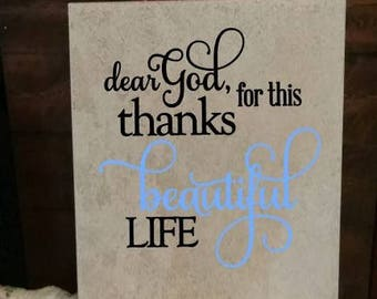 Inspirational Quote. Ceramic. Tile. Home Decor. Personalized.