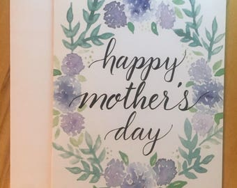 Floral Happy Mother's Day Card - Watercolor Florals
