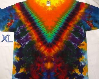 XL Orange Gamma V Style Tie Dye Shirt