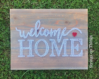 Welcome Home String Art Sign