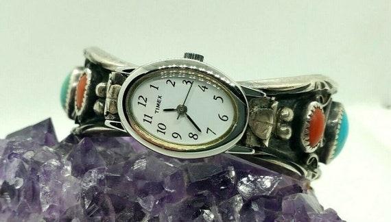 Beautiful Sterling Silver Cuff Watch Band and Watc