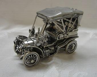 Vintage Franklin Mint Silver Car Miniatures: The 1903 Fiat 100% Sterling Silver