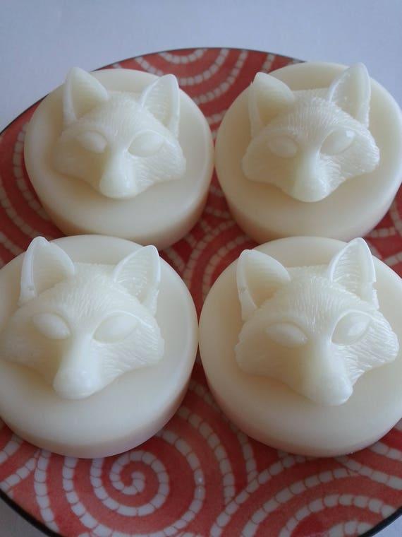 Set of 4 Honey Vanilla Fox Button Soaps