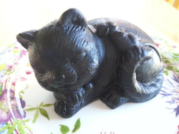 Black Cat with Mouse Friend Soap - Activated Charcoal, Scented with Signature Essential Oils Blend
