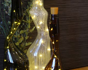 Table Decor Collection with string light - Stretched Bottle