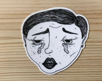 sad girl sticker