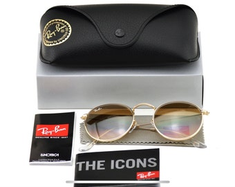 f74a7d2a0e9242 New Authentic Ray-Ban RB3447 Round Metal