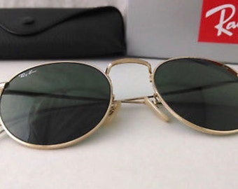 2b83a97cff15 New Authentic Ray-Ban Round Metal Gold RB3447