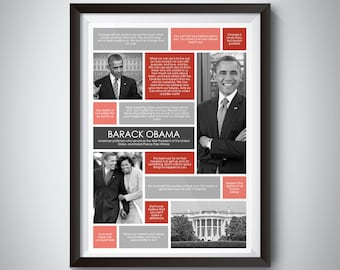 Barack Obama Quote Print; Digital Download; inspirational quote wall art for motivation and success