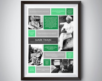 Mark Twain Quote Print; Digital Download; inspirational quote wall art for motivation and success