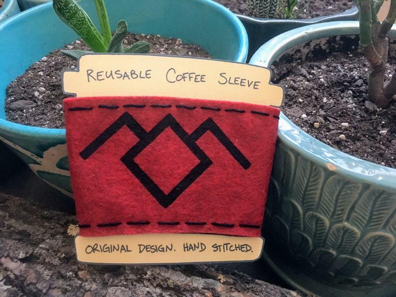 Twin Peaks Owl Coffee Sleeve image 0