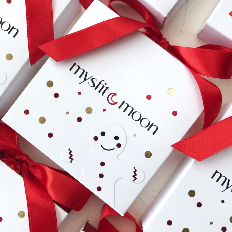 jewelry gift packaging with custom logo 50pcs Christmas gift slide red and white box with satin ribbon bow